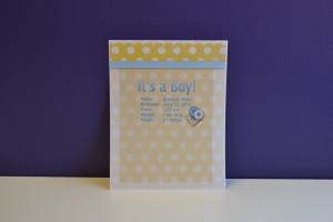 back of sample card