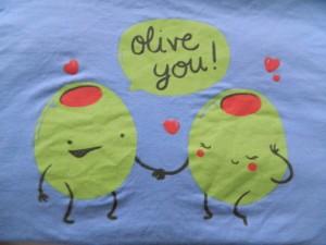 olive you shirt via maegal