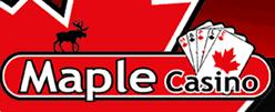 maple casino logo on maegal
