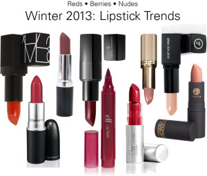 Winter 2013 Lipstick Trends