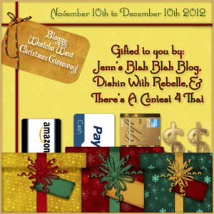 bloggy whatcha want christmas giveaway maegal