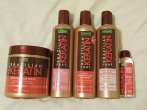 nuNAAT brazilian keratin collection via maegal
