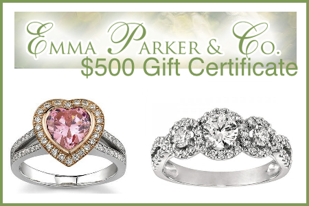 emma parker diamonds $500 gift certificate on maegal