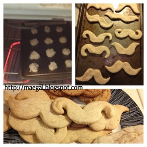 mustache cookies  on MaeGal