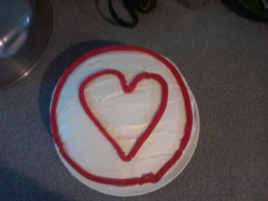 maegals heart cake on maegal