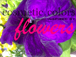 cosmetic colors inspired by flowers on maegal