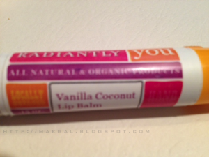RadiantlyYou lip balm on MaeGal
