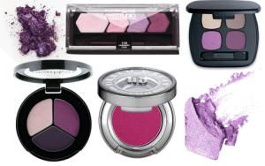 purple and pink eyeshadows on maegal