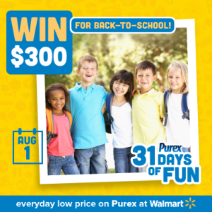 purex day one- 300 dollars back to school spree MAEGAL