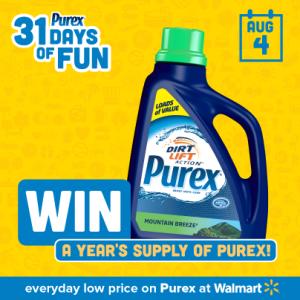 purex day four year supply of purex MAEGAL