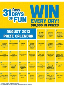 purex 31 days of fun prizes on MaeGal