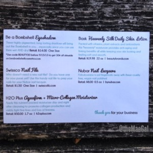 beauty box five information card MAEGAL