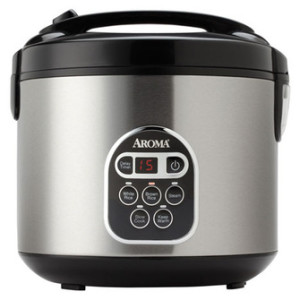 Aroma 20-Cup Digital Rice Cooker  & Food Steamer ARC-150SB