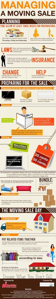 manage moving sale infographic MAEGAL