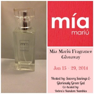 Mia Mariu Fragrance Giveaway from Savory Savings