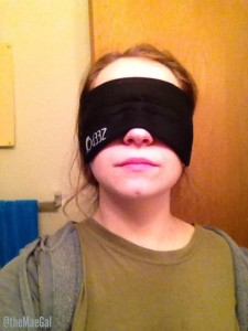 zeepo sleep mask on MAEGAL