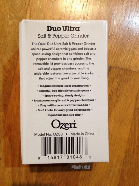 Ozeri Duo Ultra Salt & Pepper Grinder