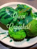 Green Confetti Cupcakes   maegal.blogspot.com