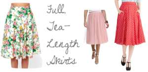 Full Tea Length Skirt Fashion Trend Spring 2014 | maegal.blogspot.com