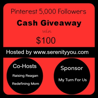 $100 Cash Giveaway Pinterest Followers | maegal.blogspot.com