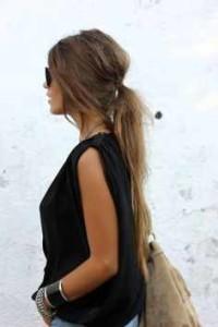 low ponytail hairstlyes