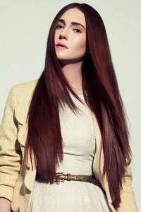 long and straight hairstyles