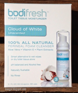 BodiFresh Cloud of White Toilet Tissue Moisturizer | maegal.blogspot.com