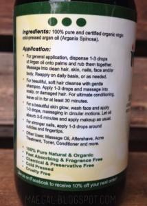 instanaturals 100% pure argan oil uses | maegal.blogspot.com