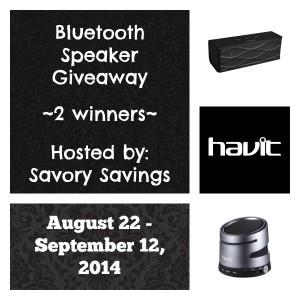 Havit Bluetooth Speaker Giveaway August 22 - September 22