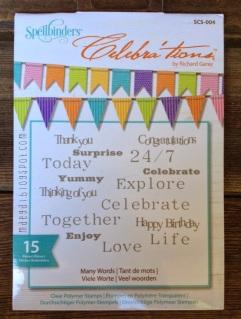 spellbinders celebrations polymer clear stamp set | maegal.blogspot.com