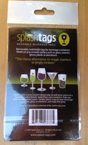 Splash Tags Reusable Beverage Tags Information