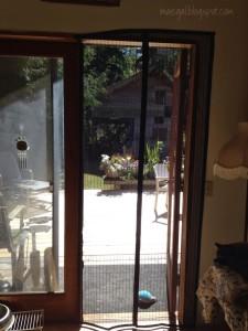 Mega Mesh Screen Door In Use