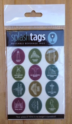 Splash Tags Reusable Beverage Tags Cities Sheet