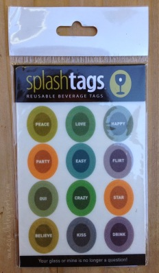 Splash Tags Reusable Beverage Tags Words Sheet
