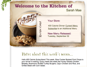 MealsByTheWeek Welcome Page