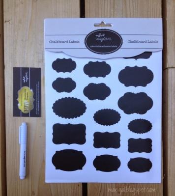 Magicmil Writable Adhesive Chalkboard Labels and Liquid Chalk Pen   maegal.blogspot.com