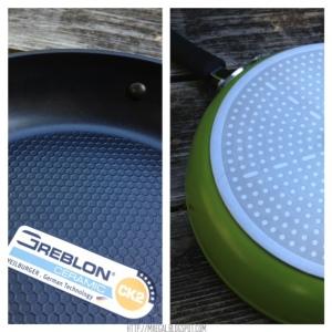 Ozeri 3-Piece Green Earth Ceramic Pan Close Up | maegal.blogspot.com