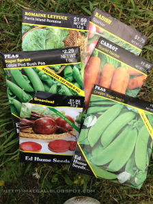 2013 Gardening Seed Packets | maegal.blogspot.com