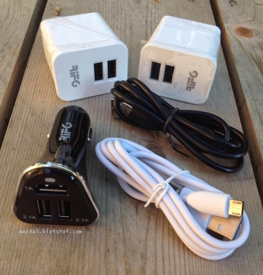 Rif6 Wall and Car Charger and USB Cord Kit Contents | maegal.blogspot.com