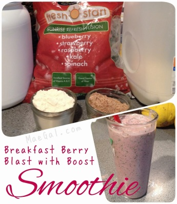Breakfast Berry Blast with Boost Smoothie Recipe | maegal.com