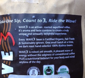 Wave Three Organic Dark Roast Artisanal Whole Bean Coffee | maegal.blogspot.com