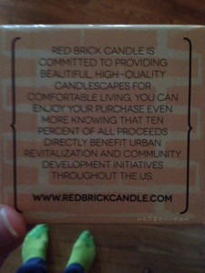 red brick candle charity | maegal.com