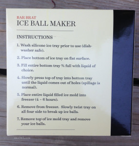 Ice Ball Maker Directions | maegal.com