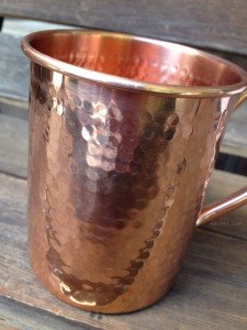 Hammered Pure Copper Mug | maegal.com