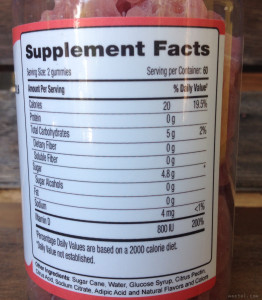 Nutrabear D3 Supplement Facts | MaeGal.com