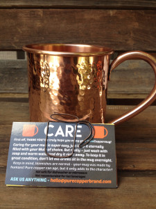 Pure Copper Mug Hammered | maegal.com