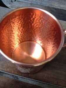 Pure Copper Mug Inside Detail | maegal.com