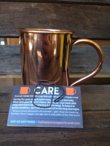 Pure Copper Smooth Mug | maegal.com